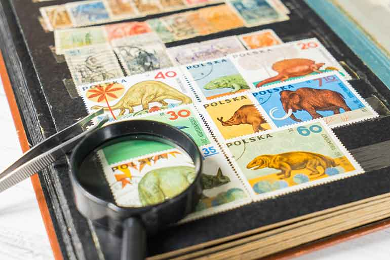store stamp collection in climate-controlled storage units