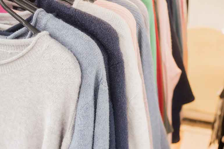 store these cashmere sweaters in climate-controlled storage units