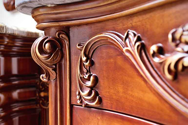 store antique furniture in climate-controlled storage units