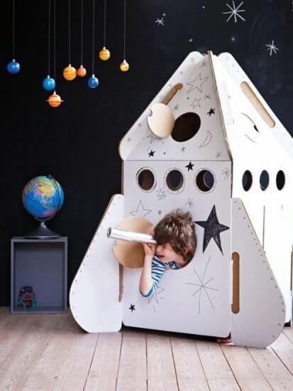 Cardboard Moving Box Rocket Ship