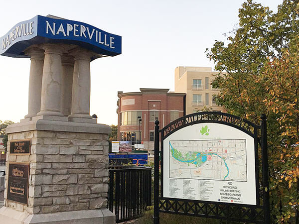 Downtown Naperville city map for tourists