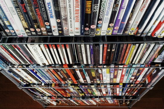Downsize CDs and DVDs to avoid shelves filled with jewel cases