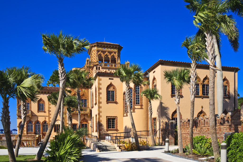 The palatial mansion of John and Mable Ringling. Sarasota, Florida