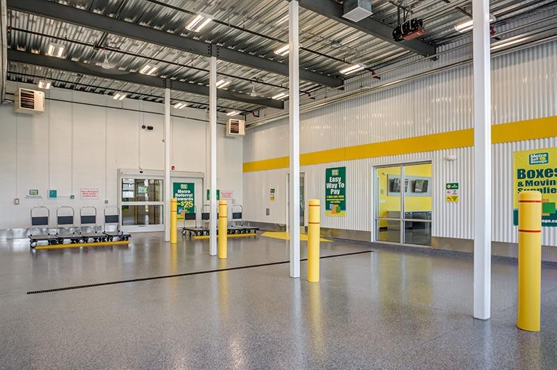 Metro Self Storage in Line Lexington, PA interior loading bay
