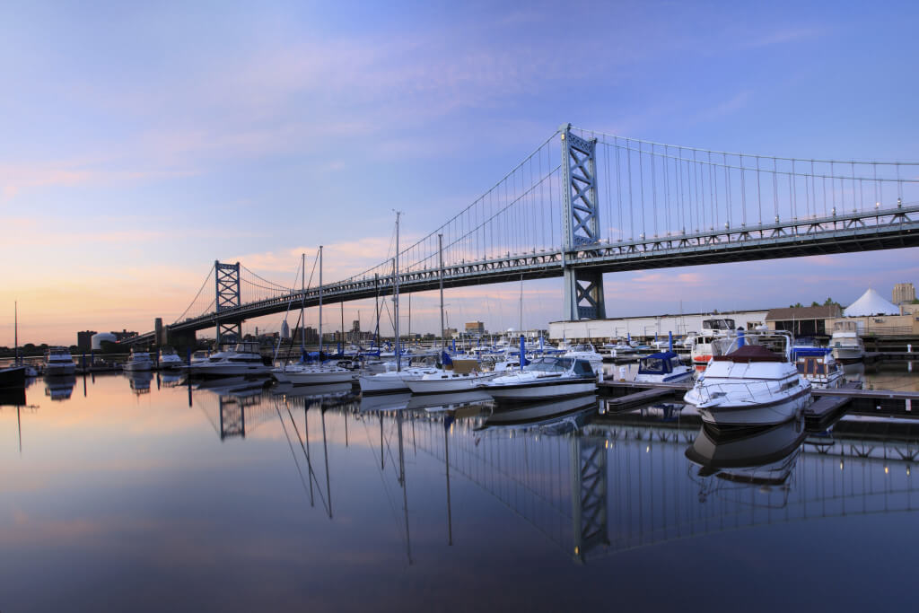 Ben Franklin Bridge Philadelphia PA