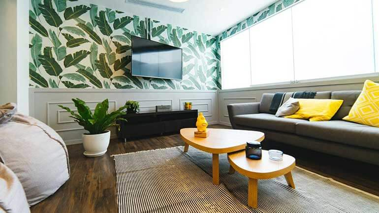 beautiful Philadelphia business owners shared client waiting room