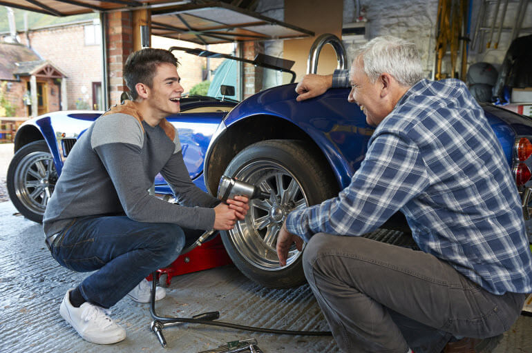 Spend Time with Dad in Garage this Fathers Day