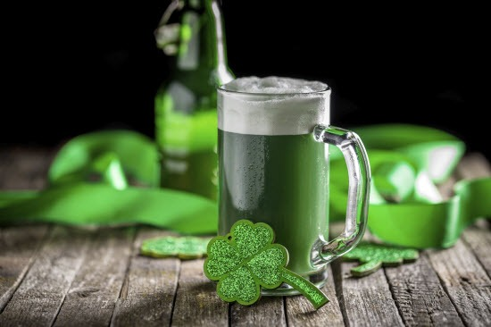 Storing party drinks and food for St Patricks Day