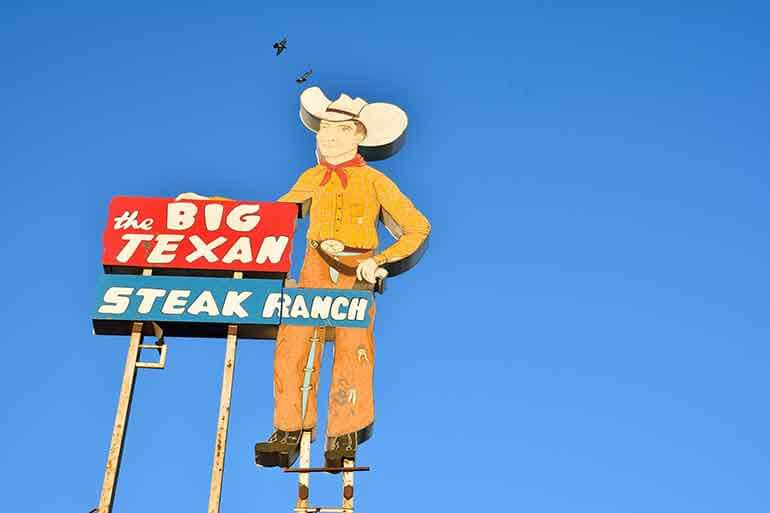 the big texan steak ranch in the city of amarillo