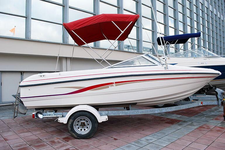 fast boat on trailer indoor storage blog the best rv storage operators