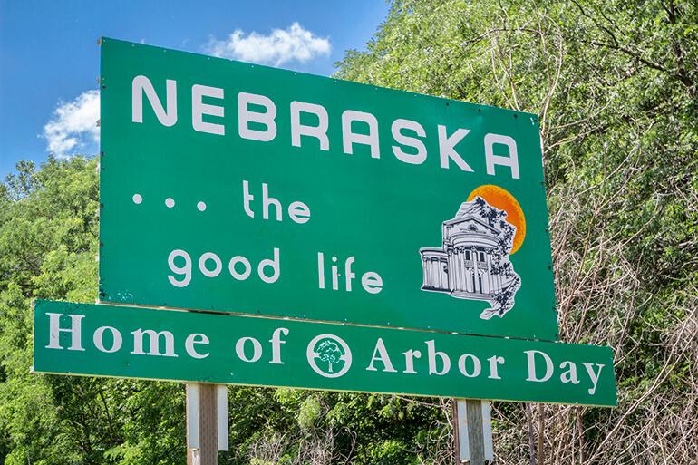 welcome to nebraska freeway sign moving truck to chicago blog metro self storage